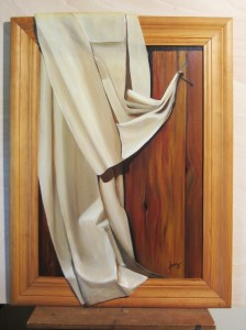 012 Cuadro con relieve- Paño 50x70