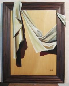013 Cuadro con relieve- Paño marco oscuro 50x70