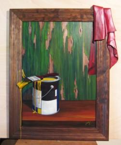 014 Cuadro con relieve- lata pintura 50x70