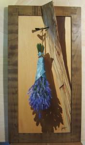025 Pintura con relieve- Lavandas 64x39