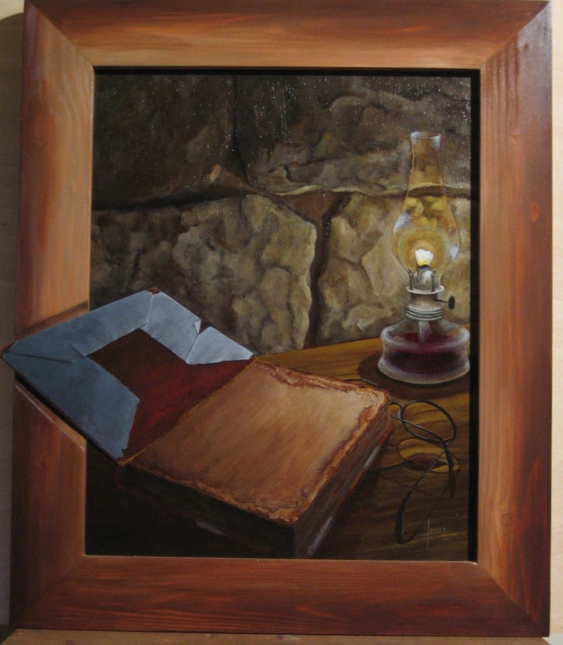 027 Pintura con relieve- Libro 40x50