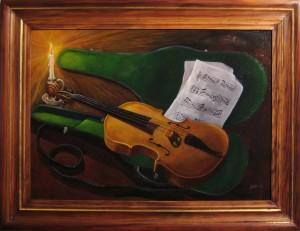 030 Pintura- Violin50x70