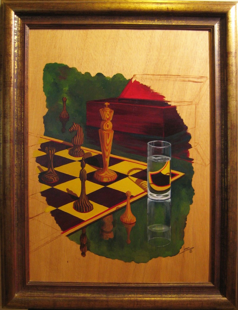 040 Pintura- Ajedrez 50x70