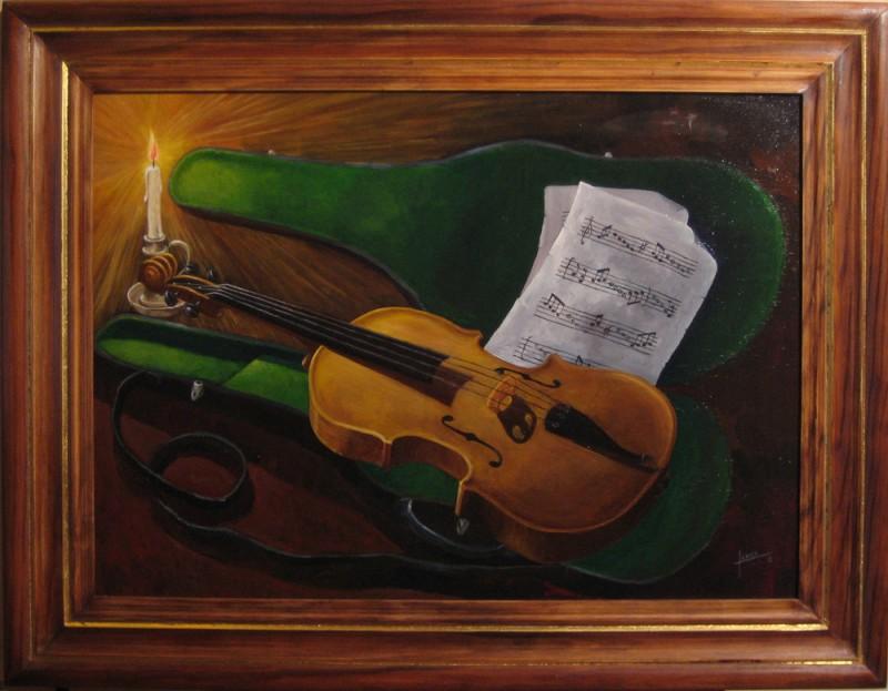 030 Violin 50x70