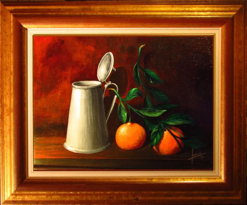 106 Bodegon- Mandarinas- Marco 25x34 160€